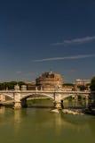 Ponte Vittorio Emanuele II bridge over River Tiber, Castel Sant Royalty Free Stock Photo