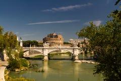 Ponte Vittorio Emanuele II bridge over River Tiber, Castel Sant Stock Photos