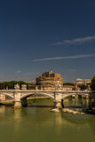 Ponte Vittorio Emanuele II bridge over River Tiber, Castel Sant Royalty Free Stock Photo