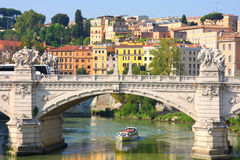 Ponte Vittorio Emanuele II In Rome, Italy Royalty Free Stock Images