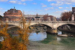 Ponte Vittorio Emanuele II Is A Bridge In Rome Royalty Free Stock Photo