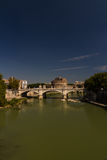 Ponte Vittorio Emanuele II most nad Rzecznym Tiber, Castel Sant Zdjęcia Stock