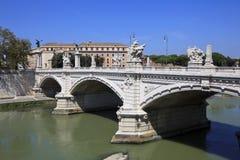 A ponte Vittorio Emanuele II, Roma, Italy. fotografia de stock