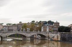 Ponte Vittorio Emanuele II, Rome Stock Images