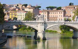 Ponte Vittorio Emanuele II in Rome, Italy Royalty Free Stock Photography
