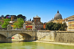 Ponte Vittorio Emanuele II in Rome, Italy Stock Image