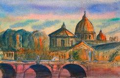 Ponte Vittorio Emanuele, Watykan, Rzym, Włochy Zdjęcie Stock