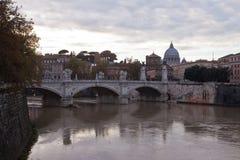 Ponte Vittorio Emanuelle ll rome Włochy Fotografia Royalty Free