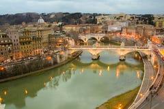 Ponte Vittorio Manuel II Imágenes de archivo libres de regalías
