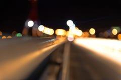 Ponte vuoto alla notte Fotografie Stock Libere da Diritti