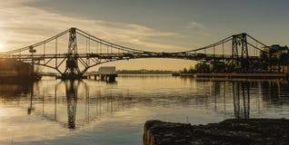 Ponte Wilhelmshaven do porto imagem de stock royalty free