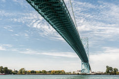 Ponte Windsor Ontario di ambasciatore Immagine Stock Libera da Diritti