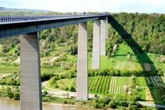 Ponte Winningen de Mosel, peça do autobahn Fotografia de Stock