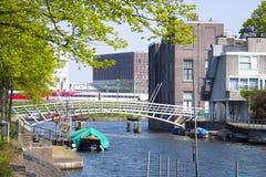 Ponte in Wittenburg, Amsterdam, Paesi Bassi Fotografia Stock
