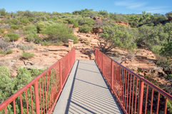 Ponte: Z-curvatura in Kalbarri Fotografia Stock