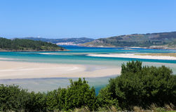 Ponteceso. Picturesque coastal landscape at Ponteceso, a small fishing village on the Costa da Morte in Galicia, Spain Royalty Free Stock Photo