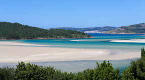 Ponteceso. Picturesque coastal landscape at Ponteceso, a small fishing village on the Costa da Morte in Galicia, Spain Royalty Free Stock Photography