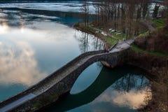 Pontecosi jezioro, Lucca, Tuscany, Włochy Zdjęcie Stock