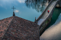 Pontecosi Lake, Lucca, Tuscany, Italy Royalty Free Stock Image
