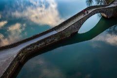Pontecosi Lake, Lucca, Tuscany, Italy Stock Images