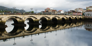 Pontede Burgo brug stock fotografie