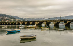 Pontedeume-Brücke Lizenzfreie Stockfotos