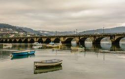 Pontedeume bridge Royalty Free Stock Photos