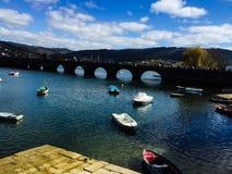Pontedeume brug Stock Afbeeldingen