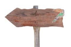 Ponteiro de madeira não marcado fotografia de stock