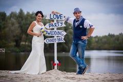 Ponteiro do casamento Imagens de Stock Royalty Free