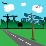 Ponteiro do futuro e do passado Foto de Stock