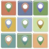 Ponteiro do mapa Imagens de Stock Royalty Free