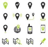 Ponteiro e mapas Fotos de Stock