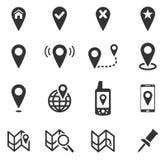 Ponteiro e mapas Fotos de Stock Royalty Free