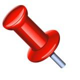 Ponteiro vermelho do escritório com vara do metal Imagem de Stock