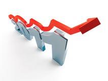 Ponteiro vermelho e 2011 Imagens de Stock Royalty Free