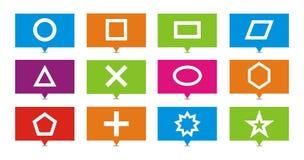 Ponteiros do retângulo da forma Imagens de Stock