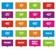 Ponteiros do retângulo da venda Fotografia de Stock