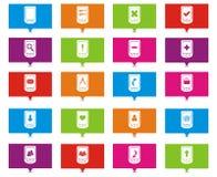 Ponteiros espertos do retângulo do telefone Imagens de Stock