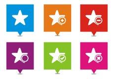 Ponteiros quadrados da estrela Foto de Stock