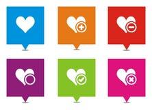 Ponteiros quadrados do amor Imagem de Stock Royalty Free
