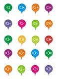 Ponteiros sadios coloridos Imagem de Stock