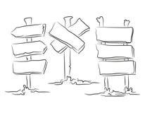 Ponteiros tirados mão ilustração do vetor