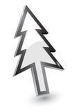 Ponteiros, versão da árvore do Xmas ilustração stock