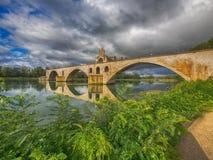 Ponten D& x27; Avignon i Avignon, Frankrike Arkivfoton
