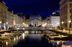 Ponterosso. In Trieste in a summer evening Royalty Free Stock Images
