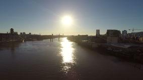 Pontes aéreas do rio de Portland video estoque