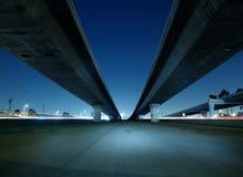 Pontes da autoestrada de Hollywood fotos de stock