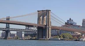 Pontes de Brooklyn e de Manhattan, NYC Fotos de Stock