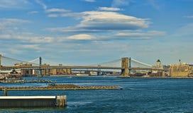 Pontes de East River Fotografia de Stock